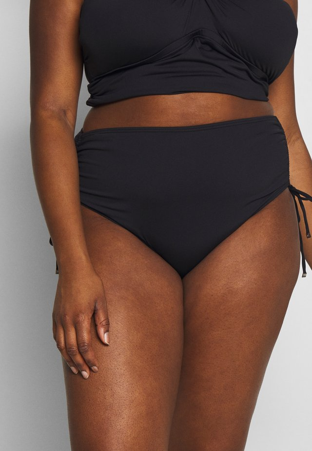 ICONIC SOLIDS SHIRRED HIPSTER BOTTOM - Braguita de bikini - black