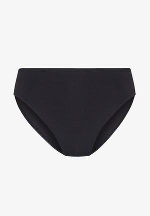 SOLIDS HIGH WAISTED BOTTOM - Dół od bikini - black
