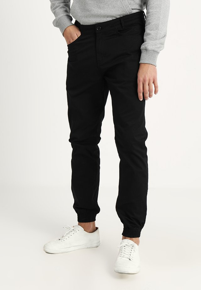 NAUTICAL TROUSERS - Stoffhose - black