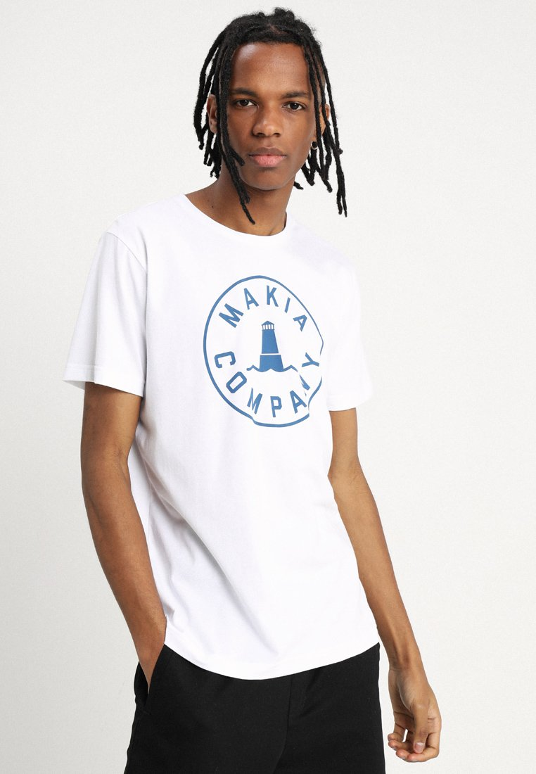 Makia - BEACON  - T-shirt imprimé - white
