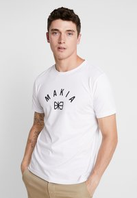 Makia - BRAND - Printtipaita - white - 0
