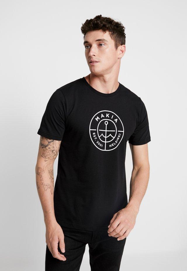 SCOPE - T-shirt z nadrukiem - black