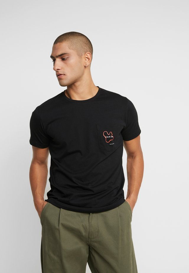 QUOTE - T-shirt imprimé - black
