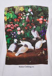 Makia - PIGEONS - Print T-shirt - white - 2