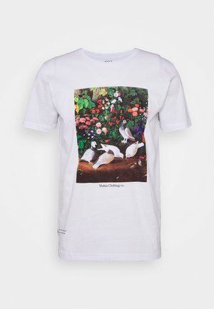 PIGEONS - Print T-shirt - white