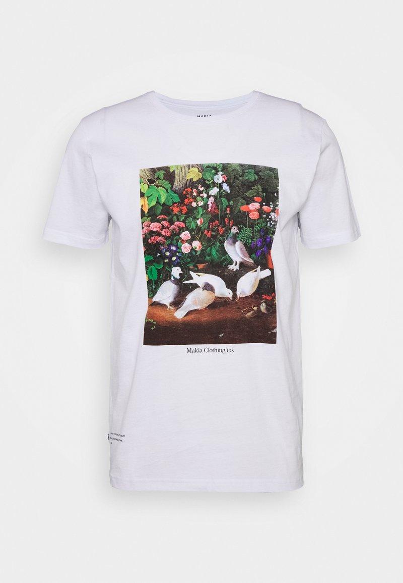 Makia - PIGEONS - Print T-shirt - white