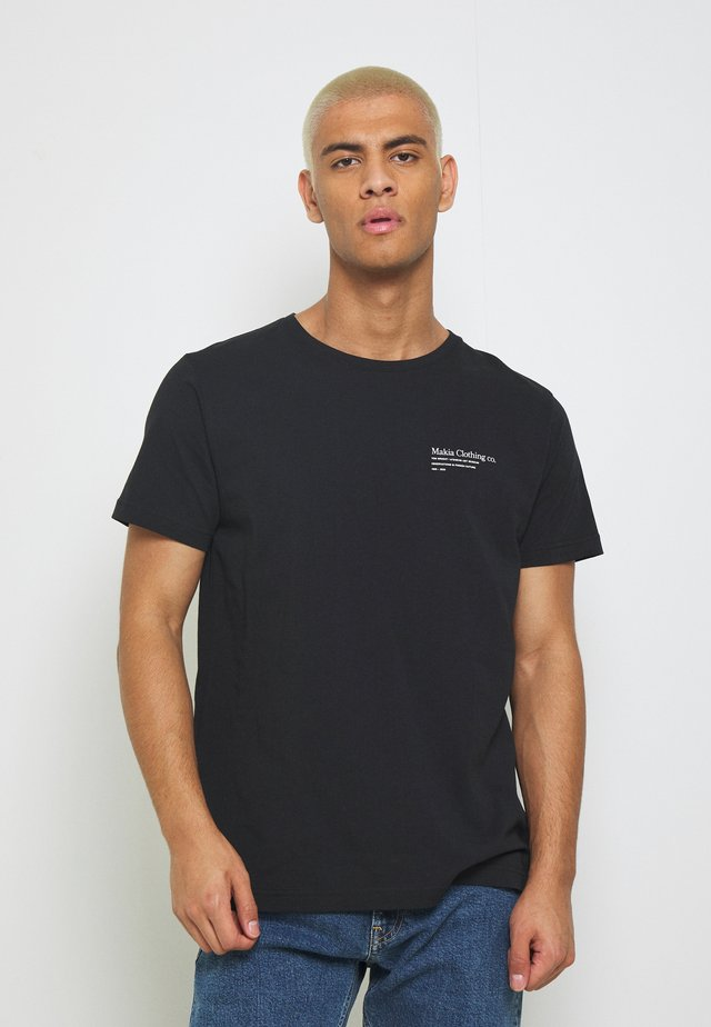 CAUGHT - T-shirt imprimé - black