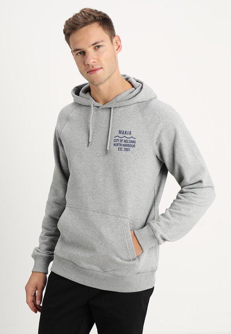 Makia - CIVIL HOODED - Hoodie - grey