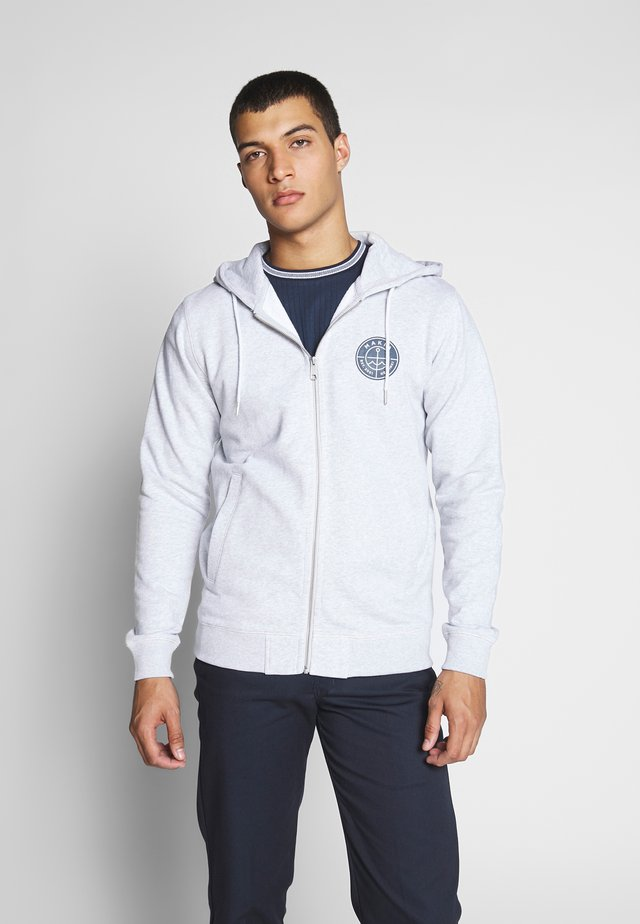 ESKER HOODED  - Huvtröja med dragkedja - light grey