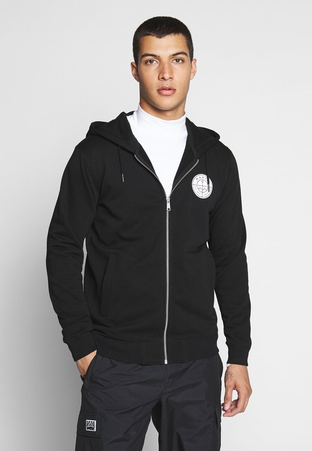 ESKER HOODED - veste en sweat zippée - black