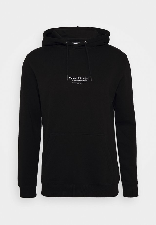 CAUGHT HOODED  - Kapuzenpullover - black