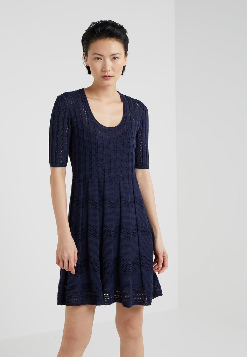 M Missoni - CLASSIC DRESS - Jumper dress - blue iris