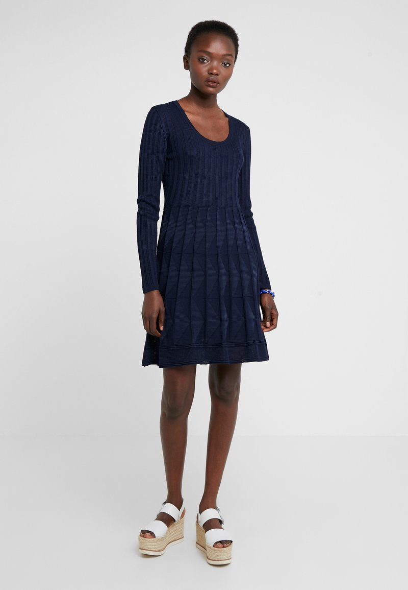 M Missoni - ABITO - Jumper dress - dark blue