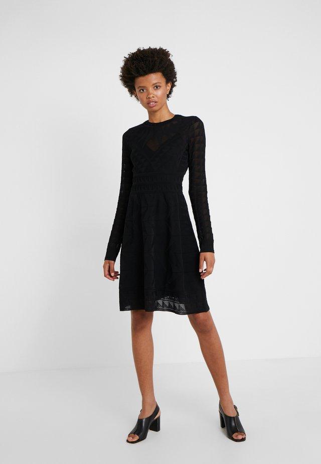 ABITO - Stickad klänning - black