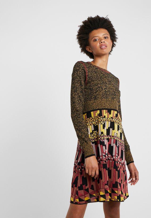 ABITO - Stickad klänning - multi-coloured