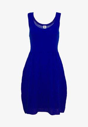 SLEEVES DRESS - Strikkjoler - blue