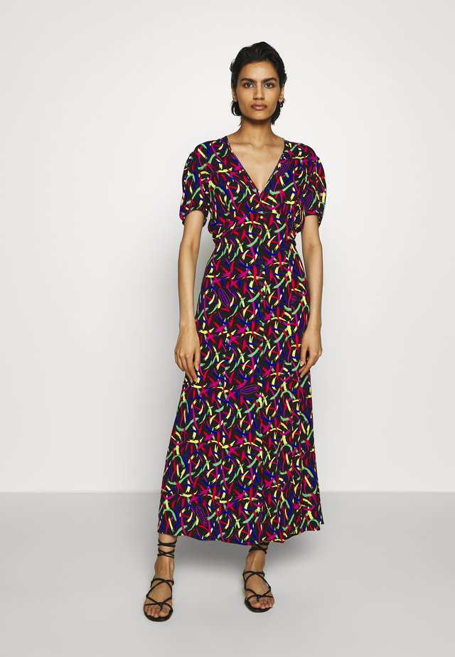 LONG DRESS - Maxi dress - black/multi