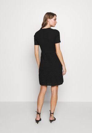 DRESS - Pletené šaty - black
