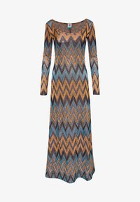 M Missoni - LONG DRESS - Maxi šaty - blue/copper/black - 0
