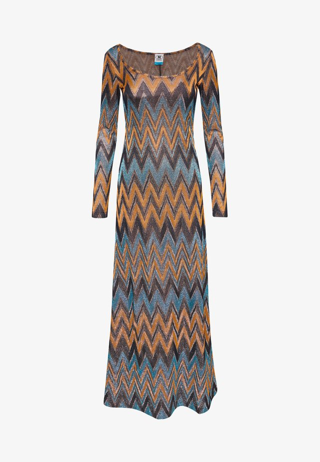 LONG DRESS - Maxikleid - blue/copper/black