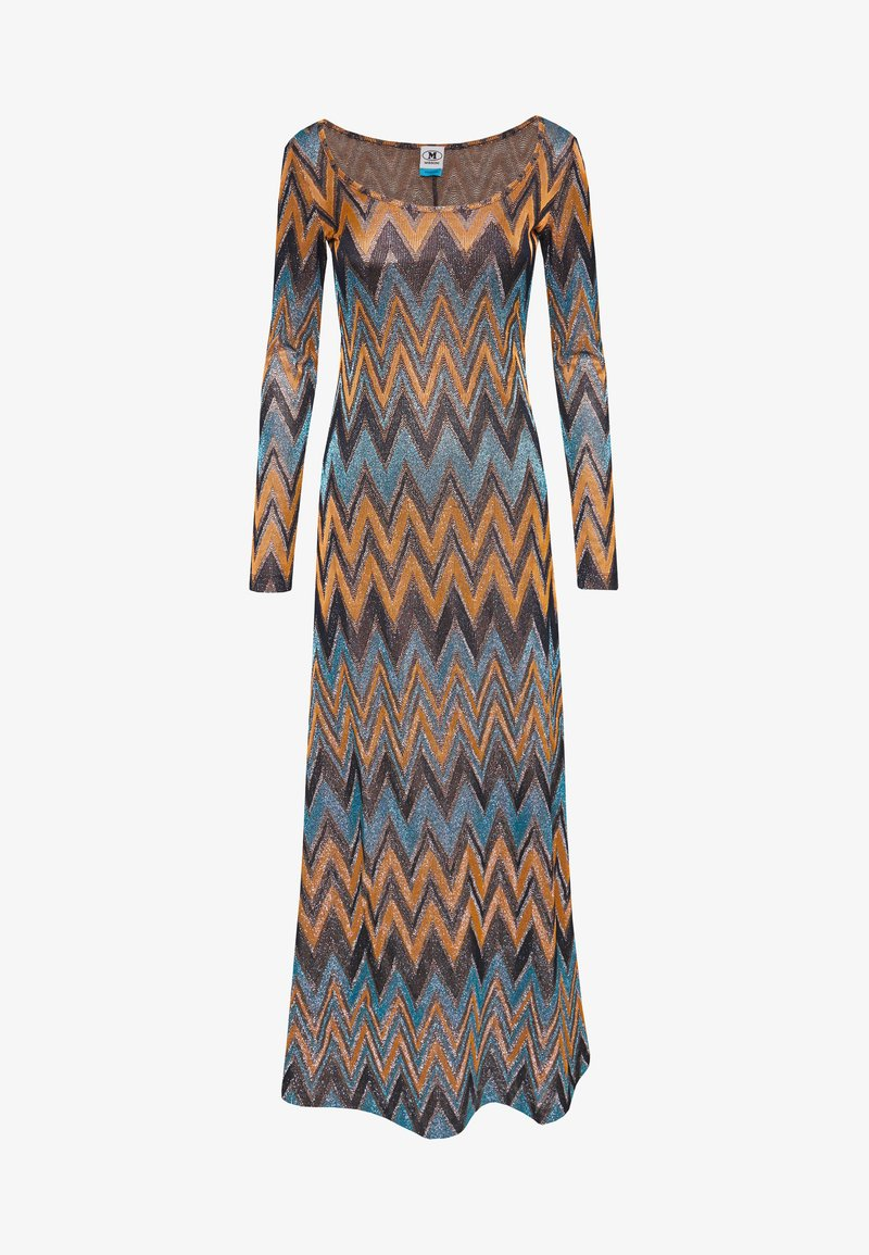 M Missoni - LONG DRESS - Maxi šaty - blue/copper/black