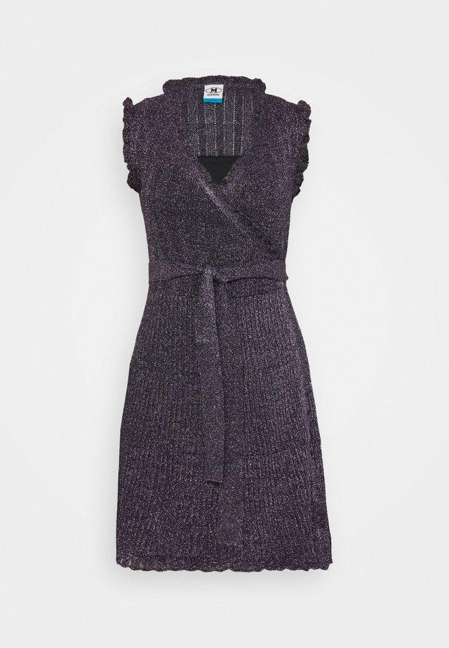 ABITO SENZA MANICHE - Strikket kjole - black