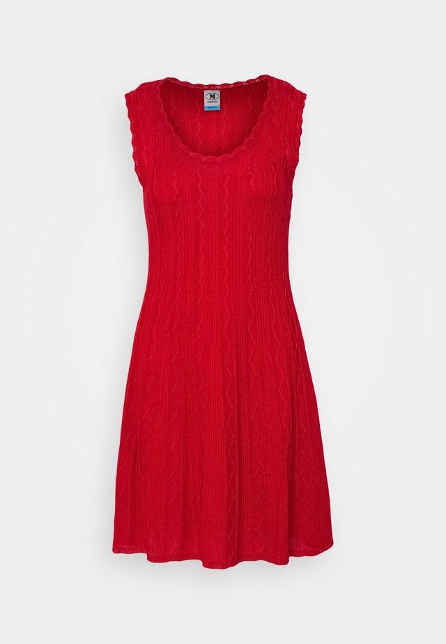 ABITO SENZA MANICHE - Strikket kjole - red