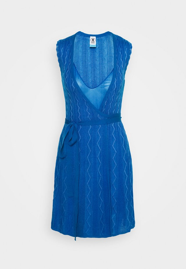 ABITO SENZA MANICHE - Strickkleid - blue