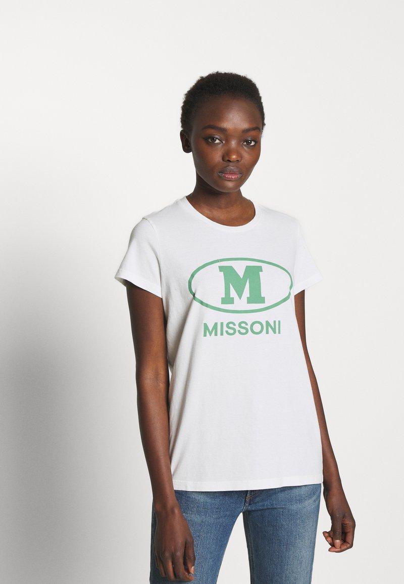 M Missoni - SHORT SLEEVE - T-Shirt print - white