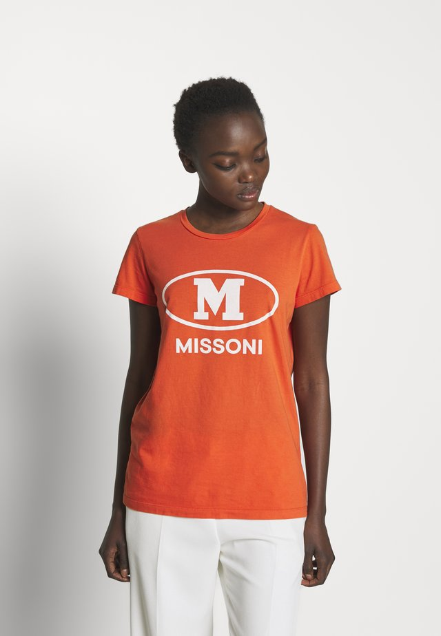 SHORT SLEEVE - T-shirt con stampa - orange