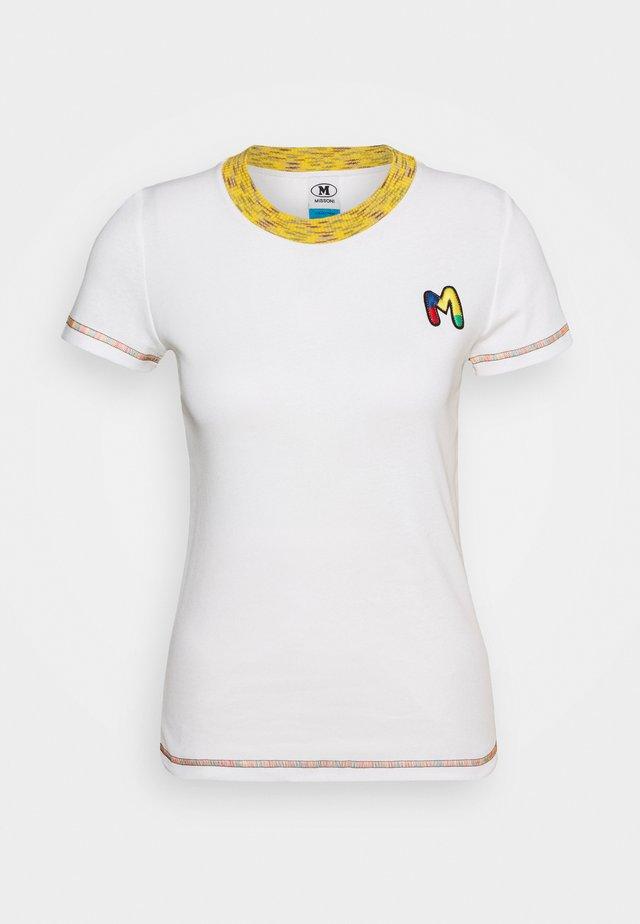 MANICA CORTA - T-shirt print - white
