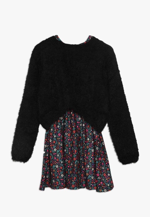 GIRLS DRESS 2 IN 1 - Jerseykjoler - nordic black