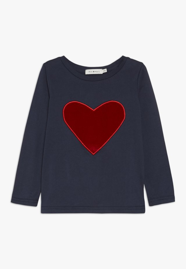 GIRLS TEE - Long sleeved top - navy blue