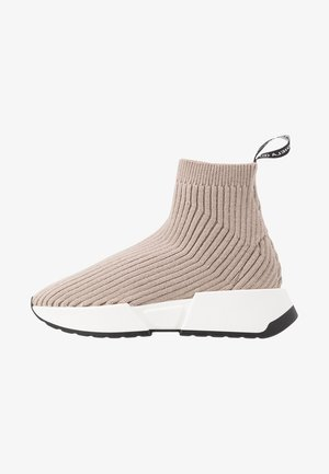 High-top trainers - simply taupe