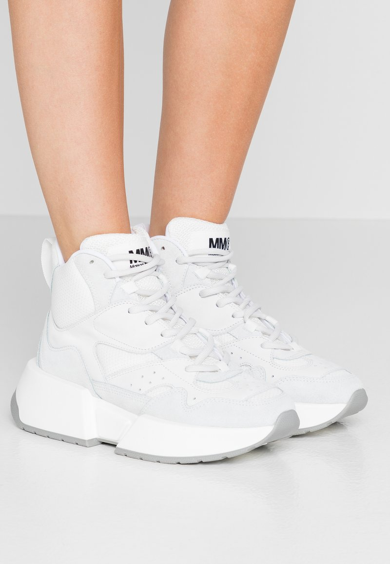 MM6 Maison Margiela - Høye joggesko - bright white