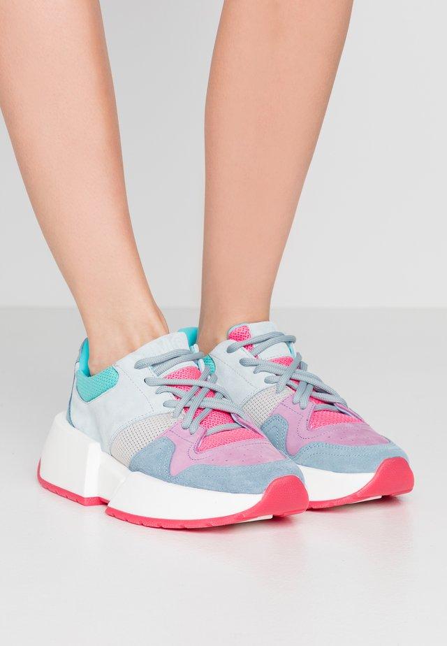 Sneaker low - avio/mauve/rosa fluo/turchese/azzurro/azzurrino