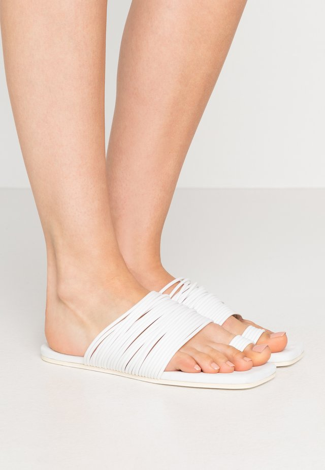 T-bar sandals - winter white