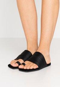 MM6 Maison Margiela - T-bar sandals - black - 0