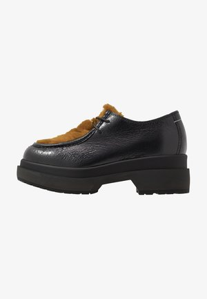 Lace-ups - black/golden yellow