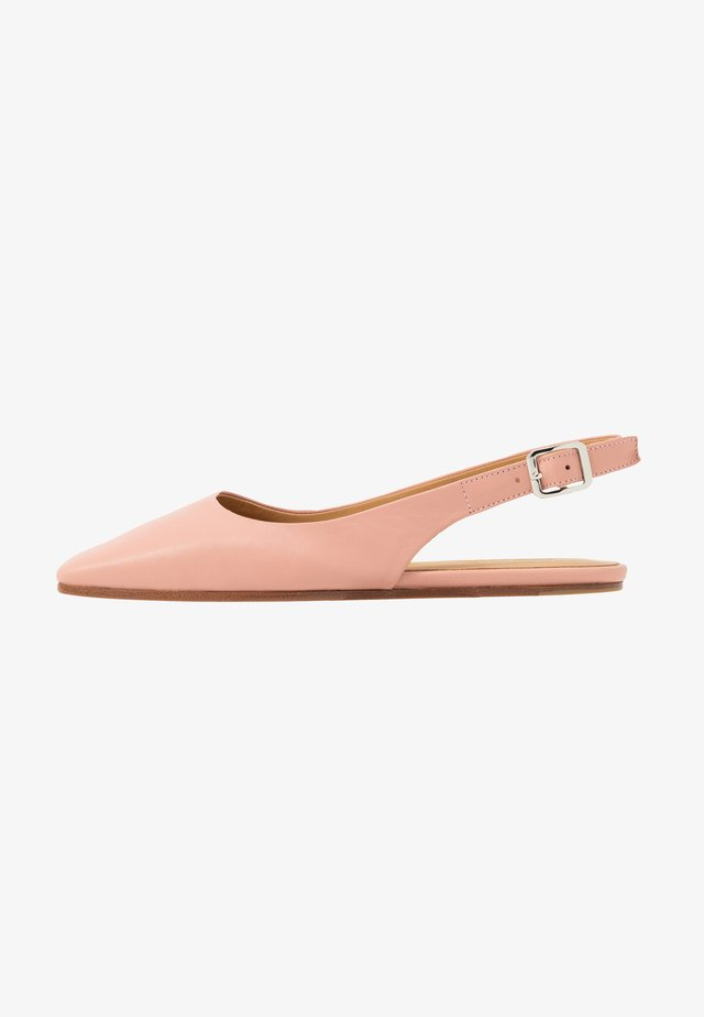 Slingback ballet pumps - rose/tan