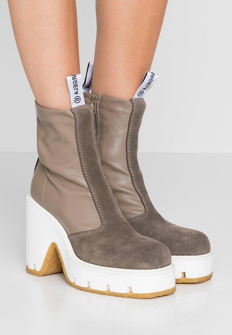 MM6 Maison Margiela - High heeled ankle boots - dark olive/otter