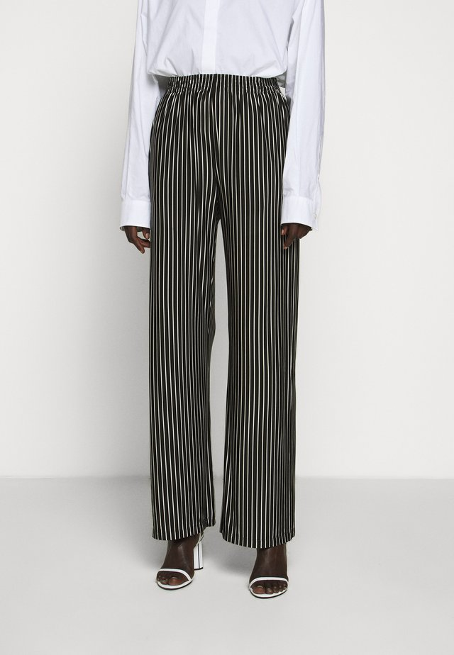 STRIPE TROUSER - Pantaloni - black/white