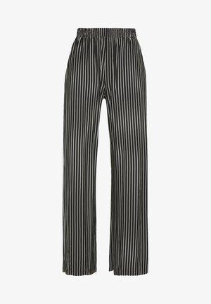 STRIPE TROUSER - Kalhoty - black/white