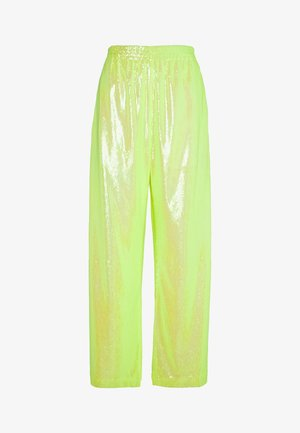 SEQUIN PANT - Stoffhose - yellow