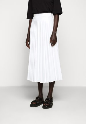 PLEATED SKIRT - Jupe trapèze - white