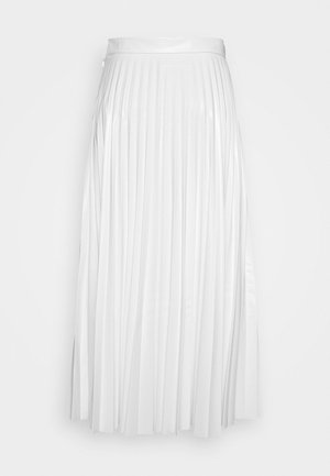 PLEATED SKIRT - A-line skirt - white