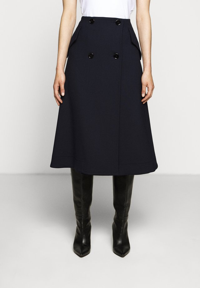 SMART SKIRT - Gonna a campana - blue navy