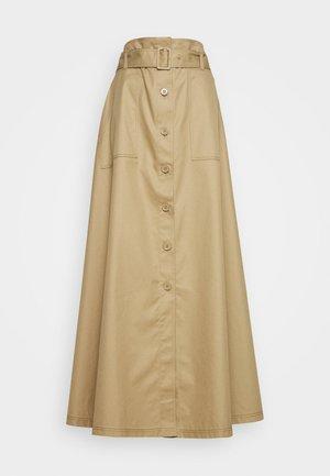 SKIRT - Maxi sukně - sand