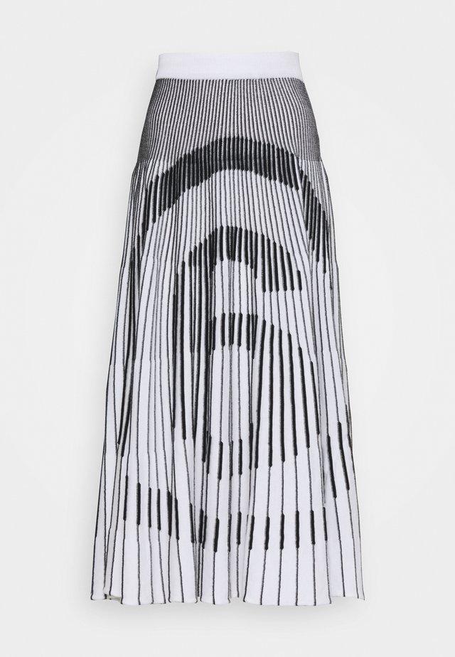 A-lijn rok - white/ black