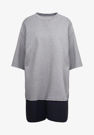 Korte jurk - grey melange